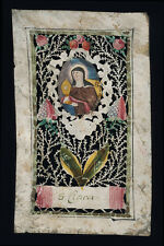 canivet pergamena miniatura 1700 S.CHIARA D'ASSISI