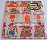 wedding Shower Gift Wrap 2 Sheets Paper Wrapping 70's scrapbook planner Vintage