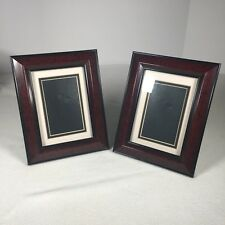 """Set Of 2 Photo Shelf Frames For 3""""x 5"""" Photos Or Prints 9.25""""x 7.25"""" Total Size"""