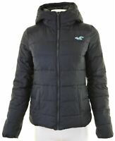 HOLLISTER Womens Padded Jacket Size 10 Small Navy Blue Polyester  FF24