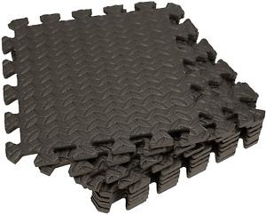 Tebery 16 Pieces Leaf Pattern Interlocking Floor Tiles Non-Slip Exercise Mat 1/2