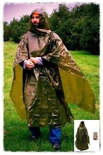 Norwegian Army Military Emergency Large Survival OD Green Poncho Shelter! ✪