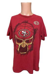 Vintage San Francisco 49ers Rey Mysterio Lucha Libre WWE Wrestling Shirt Size L