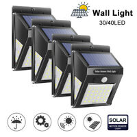 40LED Solar Power PIR Motion Sensor Wall Lamp Waterproof Garden Security Light