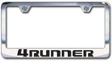Toyota 4RUNNER Chrome License Plate Frame Engraved Block Letters