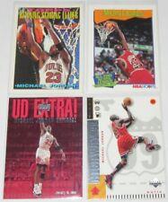 1991-99 Michael Jordan Chicago Bulls Basketball Mixed Brands 4-Card Lot NM Cond