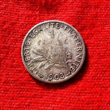 RARE MONNAIE DE 1F  SEMEUSE 1903  EN ARGENT ANCIENNE DE COLLECTION