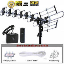 HDTV Outdoor Amplified Antenna HD TV 200 Mile 360 Rotor UHF/VHF/FM HD2605