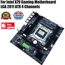 For Intel X79 Gaming Motherboard LGA 2011 ATX 4 CH Desktop Computer Mainboard