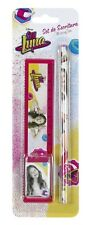 Disney Soy Luna Pen Set Pencil Eraser Ruler School Set Eraser Pen