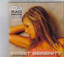 DJ Rad feat Zoe-Sweet Serenity Promo cd maxi single 4 tracks