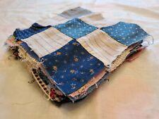 "Lot of 24 Antique Nine-Patch  Quilt Blocks 8"" Old Blue Fabrics"