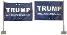 "Trump MAGA! Blue Rough Tex Knit Double Sided 12x18 12""x18"" Car Vehicle Flag"