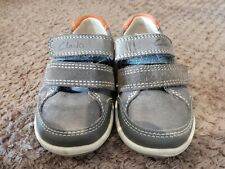 Clarks Baby Boys First Shoes Train Brown Leather Toddler Size 4 G - Hardly Worn