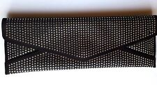Ted Baker Astaire Clutch Evening Bag Black Satin Sequins NEW