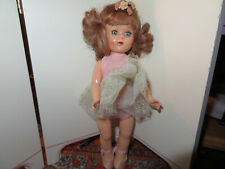 """vintage hard plastic Virga Twinkle -Tutu Ballerina Point Toe Walker Doll-8"""""""