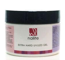 Nailite Self-Leveling Professional  LED/UV Extra HARD Builder CLEAR Gel  8 oz.