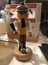 """Steinbach Germany 6"""" Wood Wooden Golf Golfer Nutcracker - Mib Rare! Retired!"""