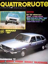 Quattroruote 249 1976 Prova Renault 20. Nuova Fiat 126. Segreti Ferrari T2 [Q93]