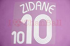 Zidane #10 2006 France Homekit Nameset Printing