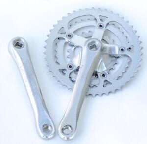 Vintage Sugino Crankset GP 175 Crank Arms Triple Old School Bike BMX MTB 1980s