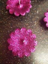 Glitter Fushia Pink Floating Candles (Pack of 5)