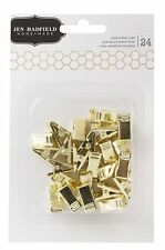 Pebbles Jen Hadfield Metal Crafting Clips, Gold - 4-Pack
