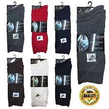 3 X Pairs Men's Cotton Lycra Classic Dress Socks Fit UK Size 6-11 In Six Colours