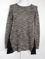 Lucky Brand Tunic Top Gray Black Size M