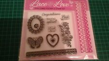 Embossing folder & stamp set,  birthday, card toppers, sentiments, scrapbooking
