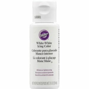 Wilton White Icing food colouring for buttercream Whitener 59ml - FREE DELIVERY!