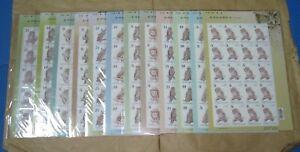 Taiwan 2011 & 2012 & 2013 Owl stamps 3 Full Sheet Sets MNH XF