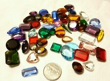 Vtg Czech Faceted Glass Jewels Stained Glass Kaleidescape & Jewelry Repair Lot