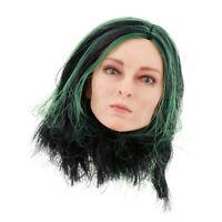 1/6 Female Head Sculpt 1/6 Scale Female Headplay Woman Heads Sculpt Green