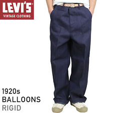 Levis Vintage Clothing LVC Blue Raw Rigid 1920 Balloon Jeans Button Fly W30 £225