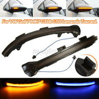 Pair LED Dynamic Mirror Turn Signal Light Indicator For VW Golf 7 MK7 GTI R GTE