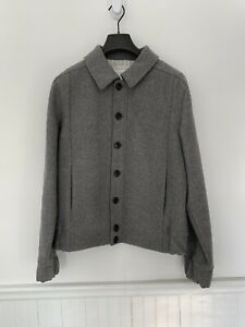 Brooks Brothers Black Fleece Thom Browne Gray Wool Bomber Bb2 M