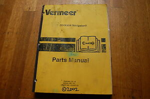 VERMEER D24x40a Navigator Parts Manual book horizontal directional drill 2002
