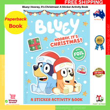 Bluey: Hooray, It's Christmas!: A Sticker Activity Book | Paperback | FREE SHIP