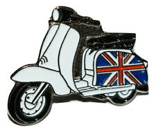"SCOOTER /""LAMBRETTA YELLOW LOGO/"" ENAMEL PIN BADGE"