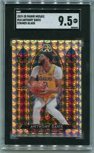 SGC 9.5 2019/20 Panini Mosaic Stained Glass SP Anthony Davis Los Angeles Lakers