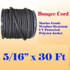 516 X 30 Ft 10 Yard Premium Marine Grade Bungee Shock Stretch Cord Uv Black