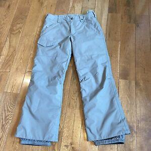 Youth Burton White Collection Dry Ride Ski Snow Pants Gray Large (14/16)