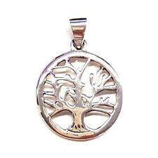 TREE OF LIFE PENDANT CHARM Detailed Tree Cut-Out Design .925 STERLING SILVER