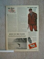 Vintage 1947 Woolrich Red Plaid Wool Outdoors Hunting Clothes Print Ad
