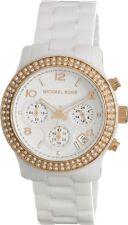 Michael Kors Runway MK5269 Rose Gold-Ton White Ceramic Crystal Glitz Women Watch