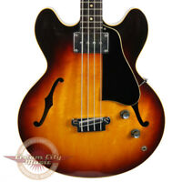 VINTAGE 1958 GIBSON EB-2 EB2 EB 2 SEMI HOLLOW BODY ELECTRIC BASS GUITAR SUNBURST