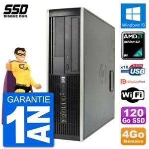 PC HP 6005 SFF AMD Athlon II X2 B24 RAM 4Go SSD 120Go Windows 10 Wifi