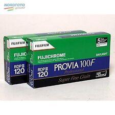 FUJI Provia 100 F, 120 Rollfilm, 2x 5 Stück