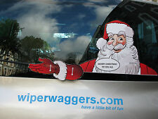 WAVING WIPER SANTA CLAUS XMAS NOVELTY STICKER FOR CAR REAR WINDSCREEN WIPER